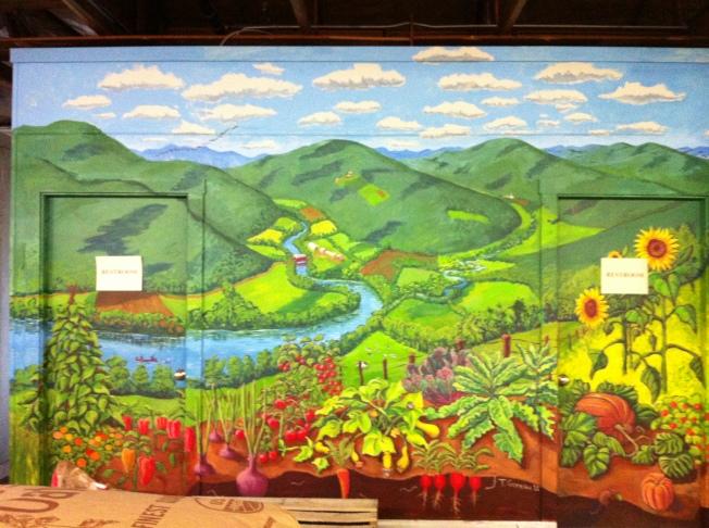 Beautiful mural at High Mowing
